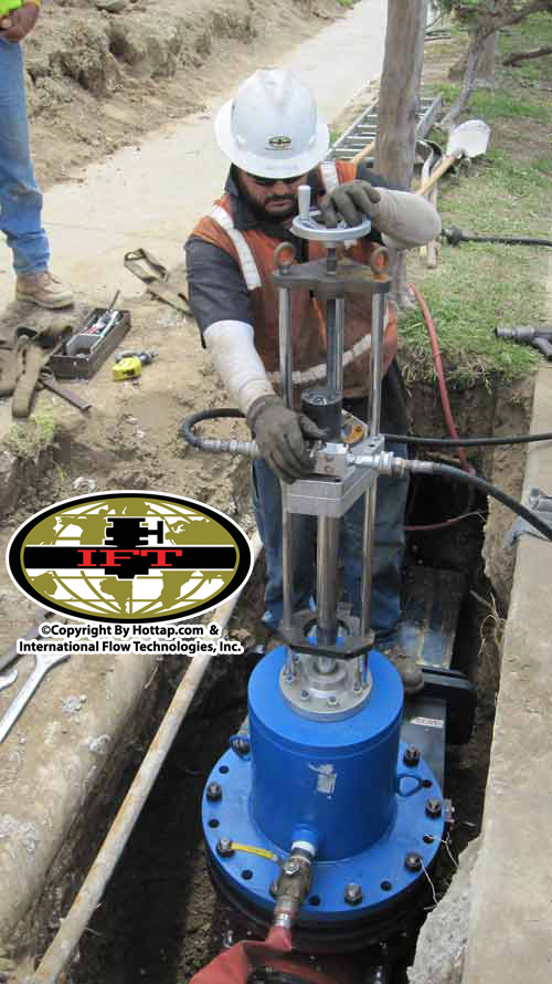 12inch Team Occlude Insert Valve install by IFT
