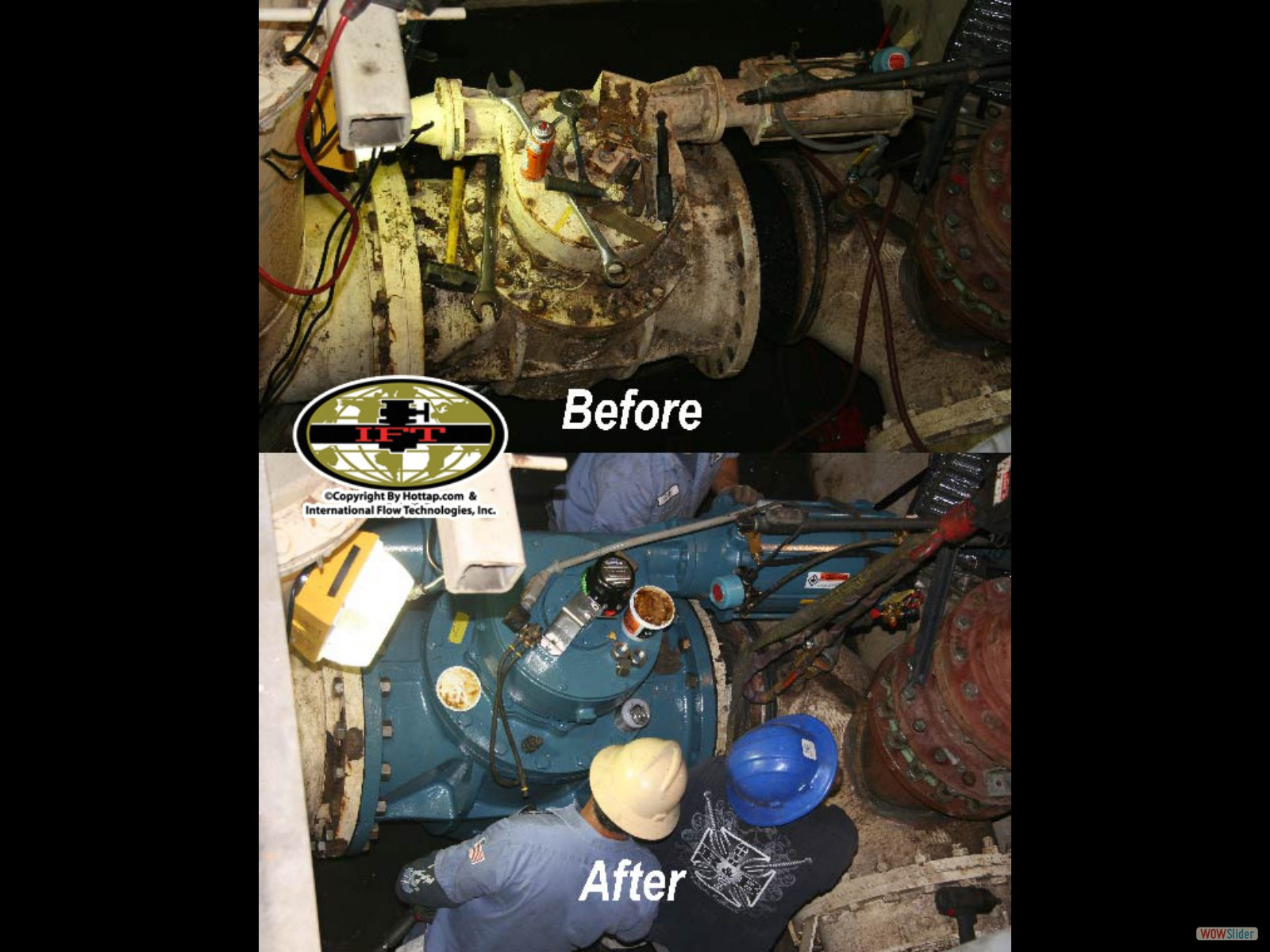 Valve replacement before after picture
