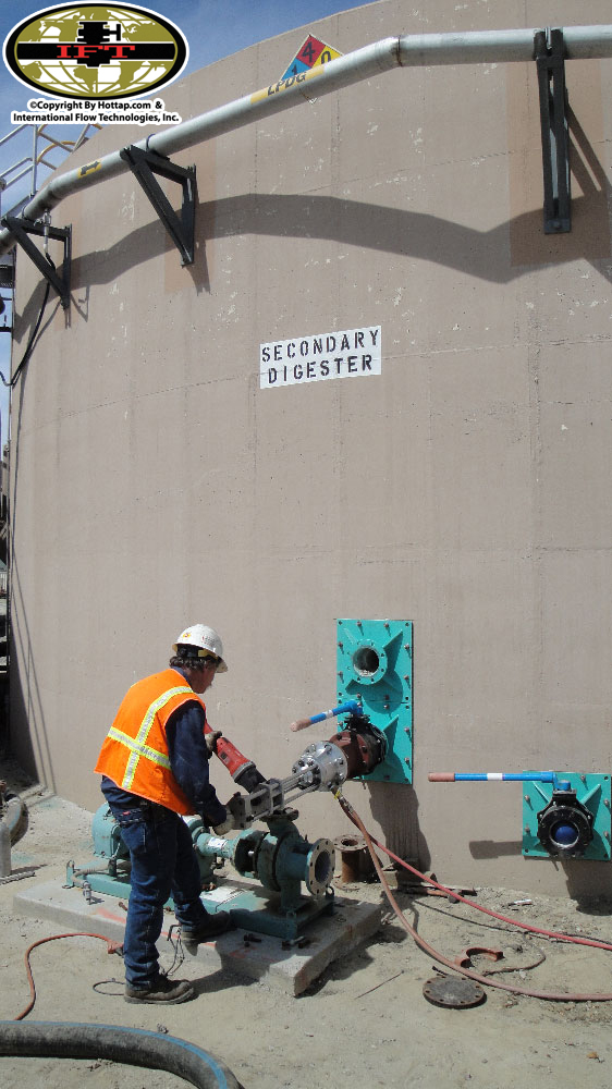 Wall Tapping at the Regional Sewage Plant in San Jacinto, CA.